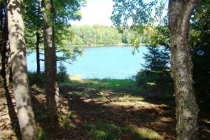 100' of Lakefront, Sunset Views & 1 Acre of Wooded Land on this Northern WI Lake!