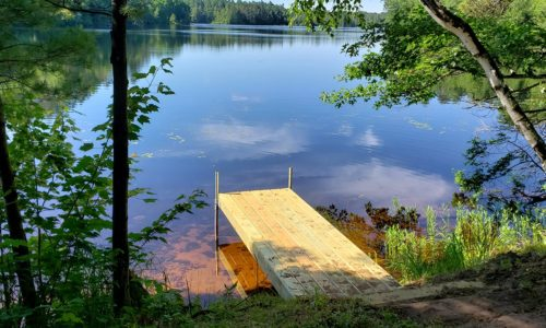 124′ Shoreline, Boat Dock & 1 Acre of Land on Northern WI Lake!