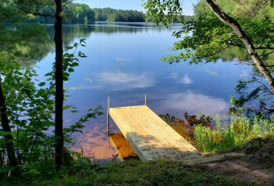124′ Shoreline, Boat Dock & 1 Acre of Land on Northern WI Lake!