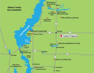 Central Wisconsin Wooded Camp or Cabin Property Near Lake Petenwell!