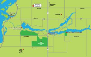 Wooded Camp or Cabin Property Near the Lakes in Rome, Wisconsin!